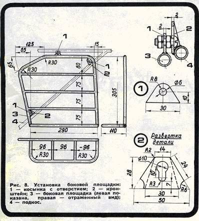 Готовый багажник можно окрасить под цвет мотоцикла или покрыть слоем...